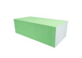 Gipso kartono plokštė GKPI Q Impregnuota, atspari vandeniui, matmenys 1200 x 3000 x 12,5 mm, 1 vnt - 3,6 m2
