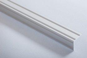 Aliumininė laiptų juostelė  H 30 D2 2,1 x 2,1 x 90 cm, mat.sidabro spalvos, kilmės šalis ES