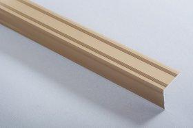 Aliumininė laiptų juostelė  H 30 D1 2,1 x 2,1 x 270 cm, mat.aukso spalvos, kilmės šalis ES
