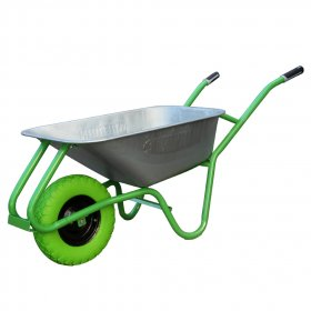 Sodo karutis HERVIN GARDEN LUT200ST, talpa 100 l, iki 200 kg, cinkuotas, pilnaviduris ratas 4,00 x 8 cm, žalias