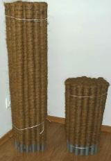 Kokosinis ramstis gėlėms   rudos spalvos, ilgis 150, diametras 32 mm