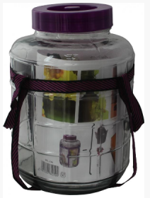 Stiklinė talpa su rankenomis D30250