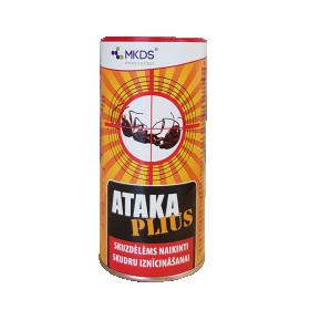 Granulės skruzdėms, tarakonams, blakėms naikinti ATAKA BLUE, 300 g.