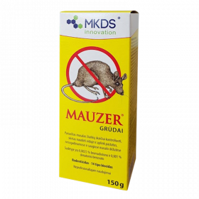 Nuodai graužikų naikinimui Mauzer