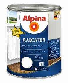 Dažai alkidinė emalė ALPINA RADIATOR 0,75 L