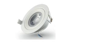 Montuojamas šviestuvas ORRO IM1078, LED 3 W, 220-240 V, 240 lm, 3000 K, 25.000 val., apvalus, baltas, A171030074