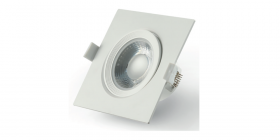 Montuojamas šviestuvas ORRO IM1083, LED 7 W, 220-240 V, 560 lm, 3000 K, 25.000 val., kvadrtinis, baltas, A171030079