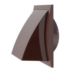 Ventiliacinės grotelės EUROPLAST, plastikinės, 190 x 190 mm, d125 mm, išorinės, su atbuliniu vožtuvu, ruda, ND12FVB