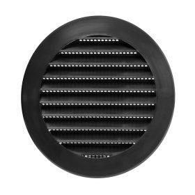 Ventiliacinės grotelės EUROPLAST, plastikinės ,d100 mm, juoda, VR100M