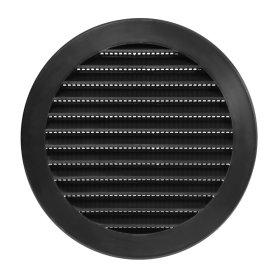 Ventiliacinės grotelės EUROPLAST, plastikinės, d125 mm, juoda, VR125M