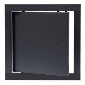 Revizinės durelės EUROPLAST, plastikinės, 200 x 200 mm, antracitas, PL2020A