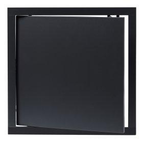 Revizinės durelės EUROPLAST, plastikinės, 300 x 300 mm, antracitas, PL3030A