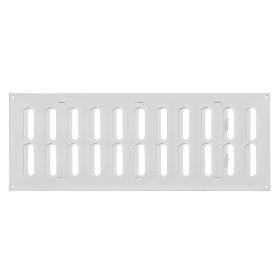 Grotelės EUROPLAST, metalinės, 400 x 150 mm, reguliuojamas, balta, MR4015R