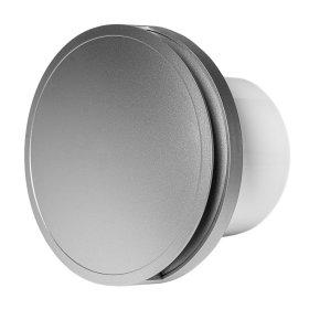Ventiliatorius EUROPLAST E-EXTRA, buitinis, d100 mm su dangčiu, rutuliniu guoliu, sidabras, EAT100S