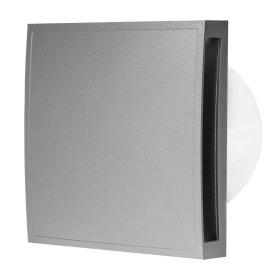 Ventiliatorius EUROPLAST E-EXTRA, buitinis, d125 mm su uždengimo dangčiu, sidabras, EET125S