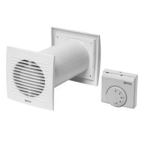 Vėdinimo įrenginys EUROPLAST, d125 mm su termostatu, SPKT125