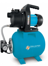 Vandens tiekimo sistema EKKO PUMPS CXP600ALL, įsiurbimo gylis 7m, max slėgis 3,2bar, našumas 45l/min, galia 600W, bakas 20L