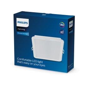 Montuojamas šviestuvas panelė PHILIPS MESON, įleidžiama, LED 17 W, 3000 K, 1600 lm, kvadratinė, baltos sp., 165 x 165 mm