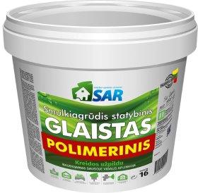 Polimerinis - lateksinis glaistas SAR, su kreidos užpildu, 1,5 kg kibire