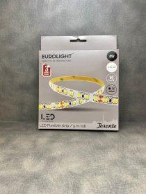 Šviesos diodų juosta EUROLIGHT TORONTO, LED 5 m, 8 W / m, IP20, 4000K, 24V, 640 lm / m, S24-8W4-3YIP20