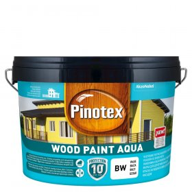 Medinių fasadų dažai PINOTEX WOOD PAINT AQUA, švediška raudona 2,5L
