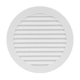Grotelės d125  VR125 Ventiliacinės, plastikinės, baltos