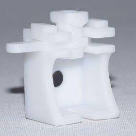 Tvirtinimo laikikliai, plastikiniam aliuminio profiliui, baltos sp., 1 pak./4 vnt., Nr. TK 4030