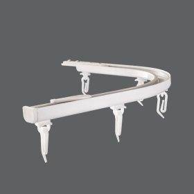 Lenktas kampas (900), universalus, aliuminio, baltos sp., sukompektuotas, Nr. AP 04