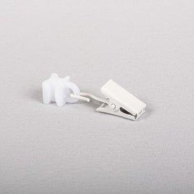 Kilputės, plastikinės, slankiojančios, su metaliniu segtuku, baltos sp., 1 pak./30 vnt., Nr. U 336