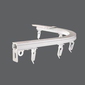 Lenktas kampas (900), universalus, aliuminio, baltos sp., sukompektuotas, Nr. TK 06