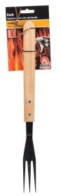 Šakutė griliui, medinė rankena, nerūdijantis plienas, 41 cm.