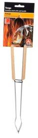 Žnyplės, medinė rankena, nerūdijantis plienas, 39 cm.
