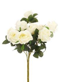 """Dirbtinių rožių puokštė """"Novelly Home"""", kreminės sp. 45 cm,  DY1-2499A"""
