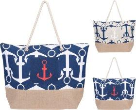 Paplūdymio krepšys, 38 x 14 x 38 cm., poliesteris, tamsiai mėlynas