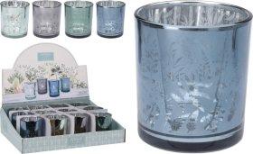 Žvakidė PAVASARIO DIZAINAS, stiklinė, 7,1 x 7,8 cm., 4 skirtingi dizainai
