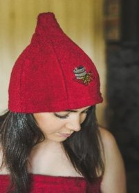 Pirties kepurė, medvilninė, bordo
