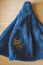 Pirties kepurė, medvilninė, tamsiai mėlyna