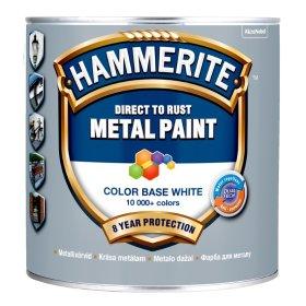 Antikoroziniai dažai Hammerite Smooth, 2,5 L, BW bazė, tonuojami, blizgūs