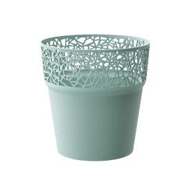 Plastikinis kambario vazonas TREE, žalios spalvos, vazono skersmuo 12 cm.