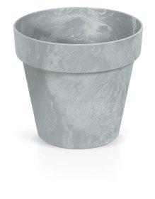 Plastikinis lauko vazonas CUBE CONCRETE, pilkos spalvos, vazono skersmuo 25 cm.