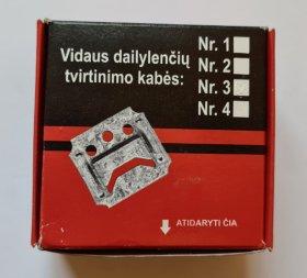 Kabė Nr. 4, 100 vnt., dailylentei, 04KDTNR4