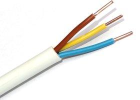 Instaliacinis kabelis LIETKABELIS NYM-J 300/500V 3*1,5 (KH05VV-U) apvalus monolitas (rul 100m)