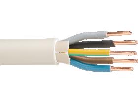 Instaliacinis kabelis LIETKABELIS NYM-J 300/500V 5*4 (KH05VV-U) apvalus monolitas, baltas