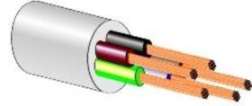 Instaliacinis kabelis LIETKABELIS OWY 300/300V 5*2,5 (BVV-LL) apvalus daugiagyslis, baltas