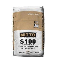 Kvarcinis smėlis Mitto S100, frakcija 0,00 -0,04 mm, 25 kg