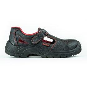 Darbo batai, sandalai HERVIN OB001, 46 dydis su pirštų ir pado apsauga, juoda sp.