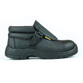 Darbo batai su auliuku HERVIN OBS001, 43 dydis, su pirštų ir pado apsauga, odiniai, pritaikyti suvirinimo darbams