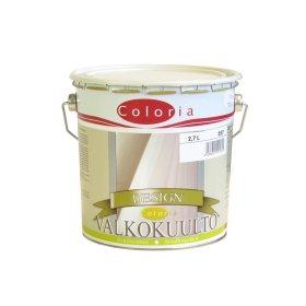Lakas  COLORIA Design Valkokuulto, 2,7 l Pagamintas vandens pagrindu, baltos spalvos,