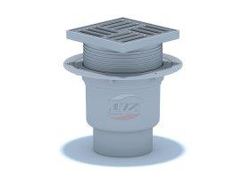 Trapas ANI PLAST, TA1712EU, vertikalus D-110, reguliuojamas, su met. grotelėm 15x15