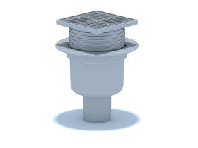 Trapas ANI PLAST, TQ5702EU, vertikalus D-50, reguliuojamas, su met. grotelėm 10x10, sausas